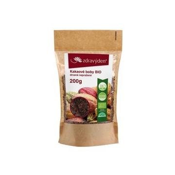 Kakaové boby BIO drcené nepražené 200 g