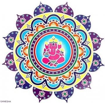Mandala Sunseal Ganesha
