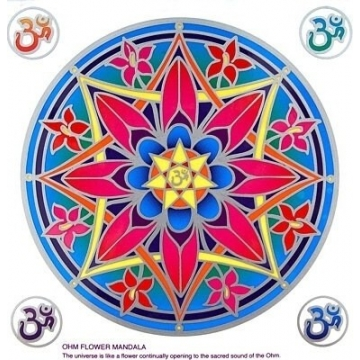 Mandala Sunseal Ohm Flower Mandala