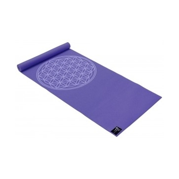 Podložka na jógu KVĚT ŽIVOTA - fialová