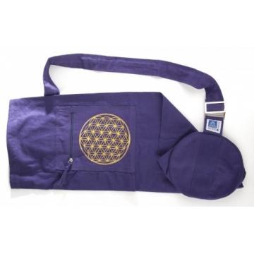 Jóga taška KVĚT ŽIVOTA - fialová