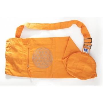 Jóga taška KVĚT ŽIVOTA - oranžová