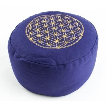 Meditační polštář KVĚT ŽIVOTA - fialový
