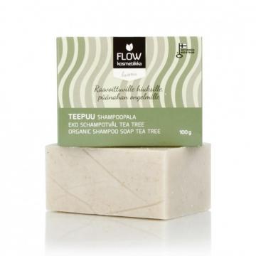 FLOWkosmetika Tuhý šampon Tea Tree 100 g