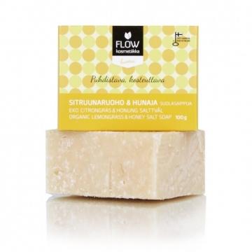 FLOWkosmetika Solné mýdlo s citronovou trávou a medem