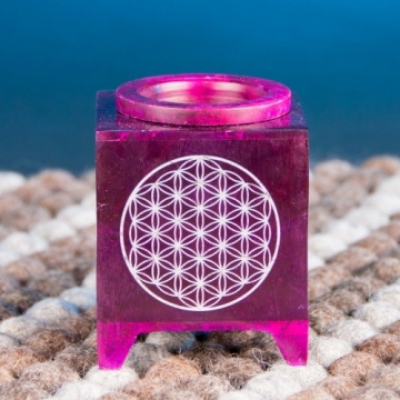 Aromalampa s Květem života - fialová