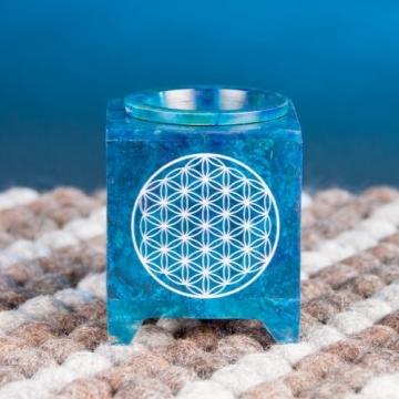 Aromalampa s Květem života - modrá