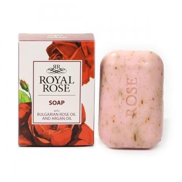 ROYAL ROSE Mýdlo s růžovým a arganovým olejem