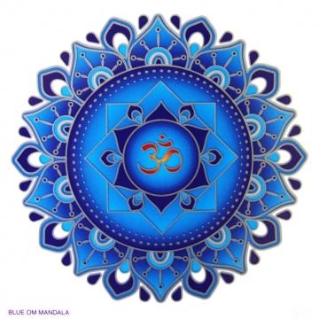 Mandala Sunseal BLUE OM