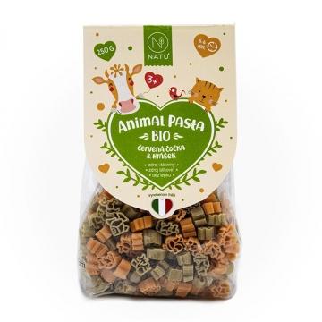 Animal Pasta Bezlepkové těstoviny z červené čočky a hrášku Bio