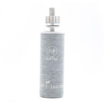 Skleněná láhev NATU 500 ml - šedá