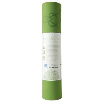 Yoga mat STROM ŽIVOTA, dvouvrstv. TPE - zelená/šedá