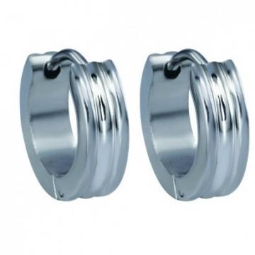 Náušnice kroužky stříbrné z chirurgické oceli