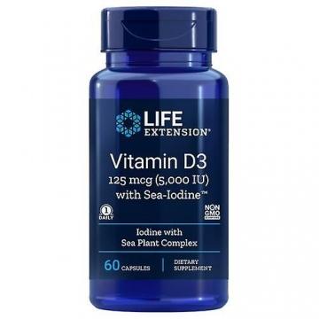 Vitamin D3 125 mcg 5000 IU LIFE EXTENSION®, 60 kapslí