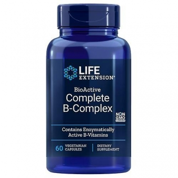 BioActive Complete B-Complex LIFE EXTENSION®, 60 kapslí