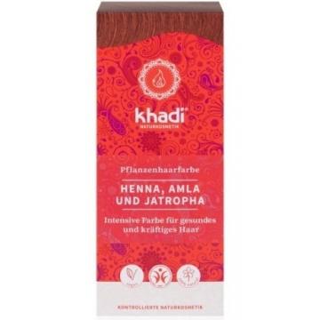Khadi rostlinná barva na vlasy HENNA & AMLA & JATROPHA