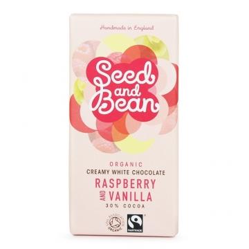Bílá čokoláda 30% - Malina a vanilka
