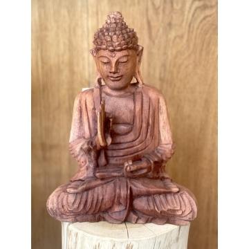 Buddha dřevěný střední