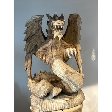 Socha drak velký - dřevo