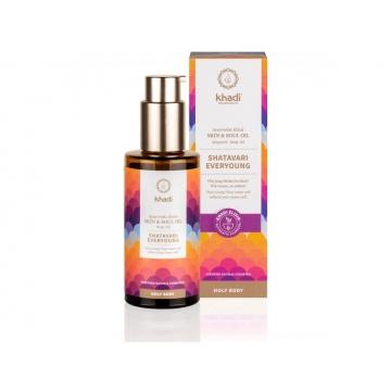 Khadi elixír olej pro pokožku a duši SHATAVARI EVERYOUNG 100 ml