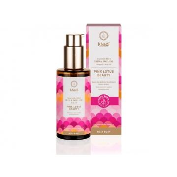 Khadi elixír olej pro pokožku a duši RŮŽOVÝ LOTOS KRÁSA 100 ml